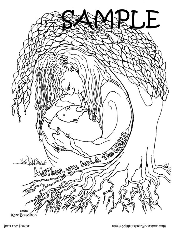 mother nature coloring pages | Mother Earth Coloring Pages at GetDrawings.com | Free for ...