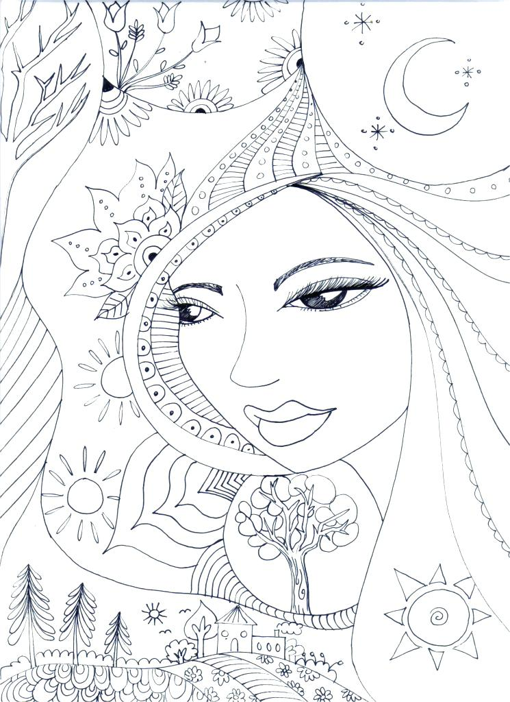 745x1024 Mother Nature Coloring Pages Free Adult Coloring Pages Mother