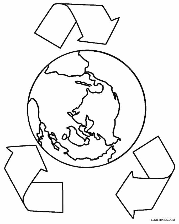 682x850 Printable Earth Coloring Pages For Kids