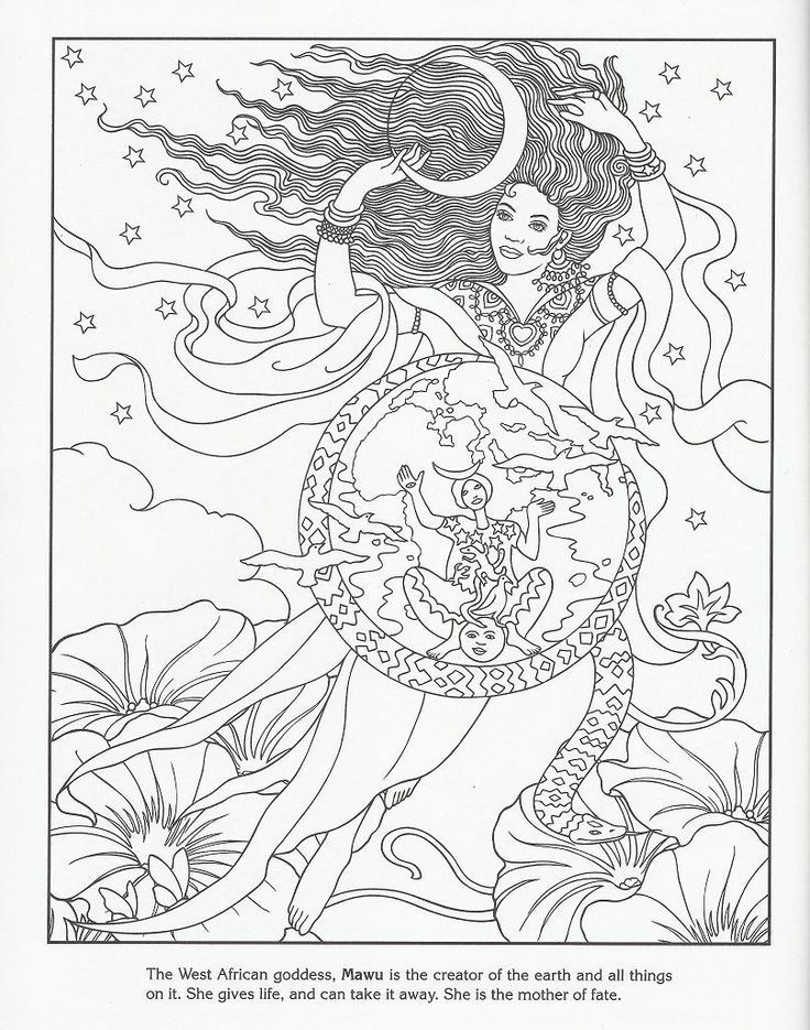 736x935 West African Goddess Mawu Let's Color! African