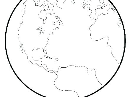 440x330 Earth Coloring Pages Planet Earth Coloring Pages Earth Coloring