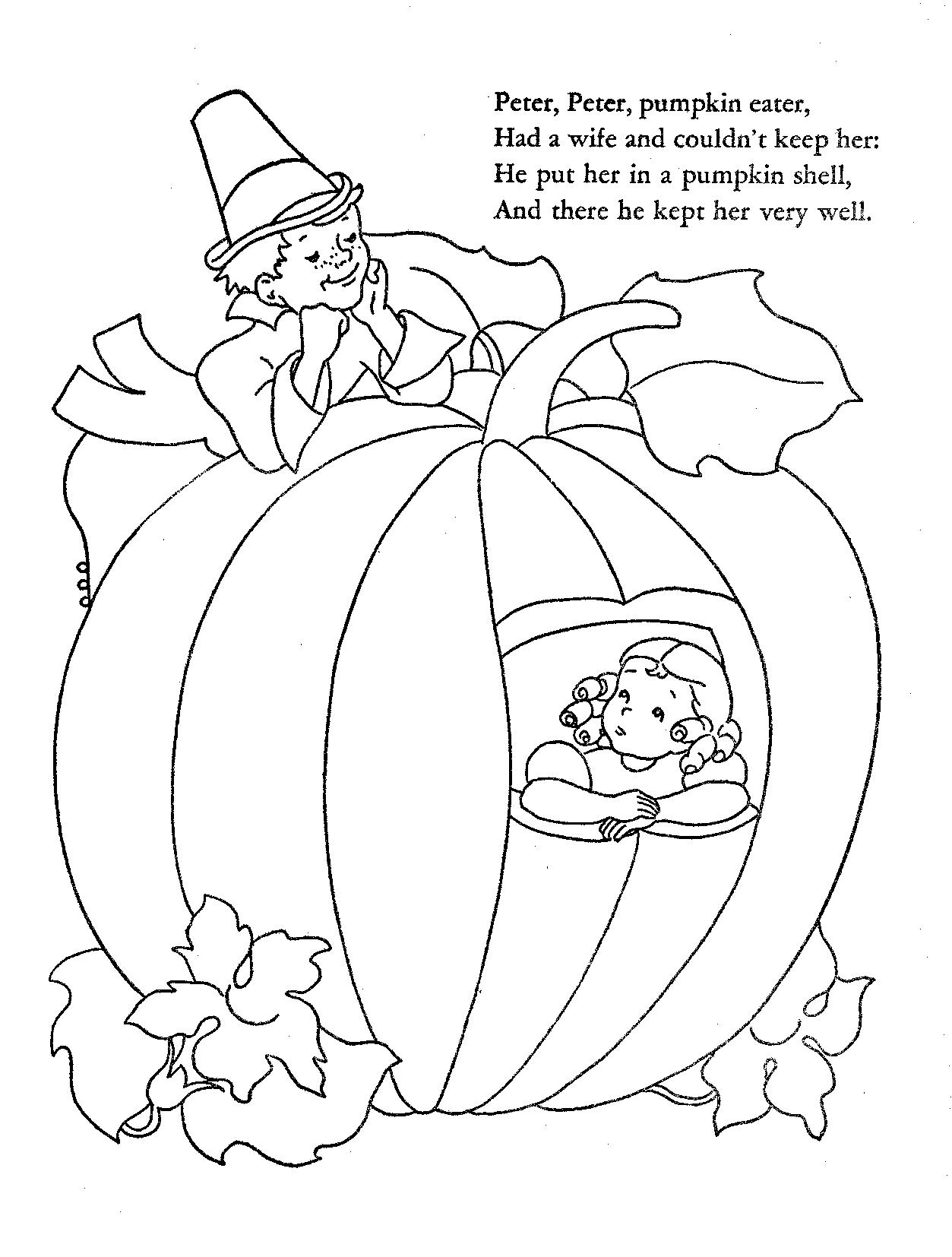 1253x1654 Security Peter Pumpkin Eater Coloring Page