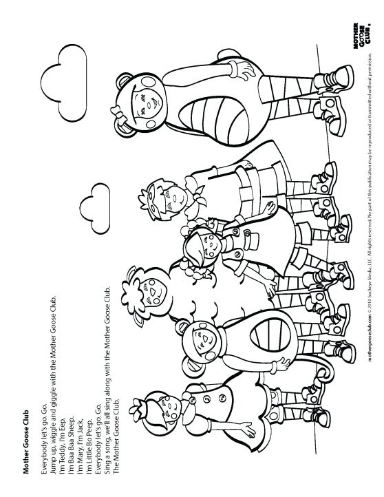 558x722 Coloring Pages Mother Goose Nursery Rhymes Coloring Pages Mother