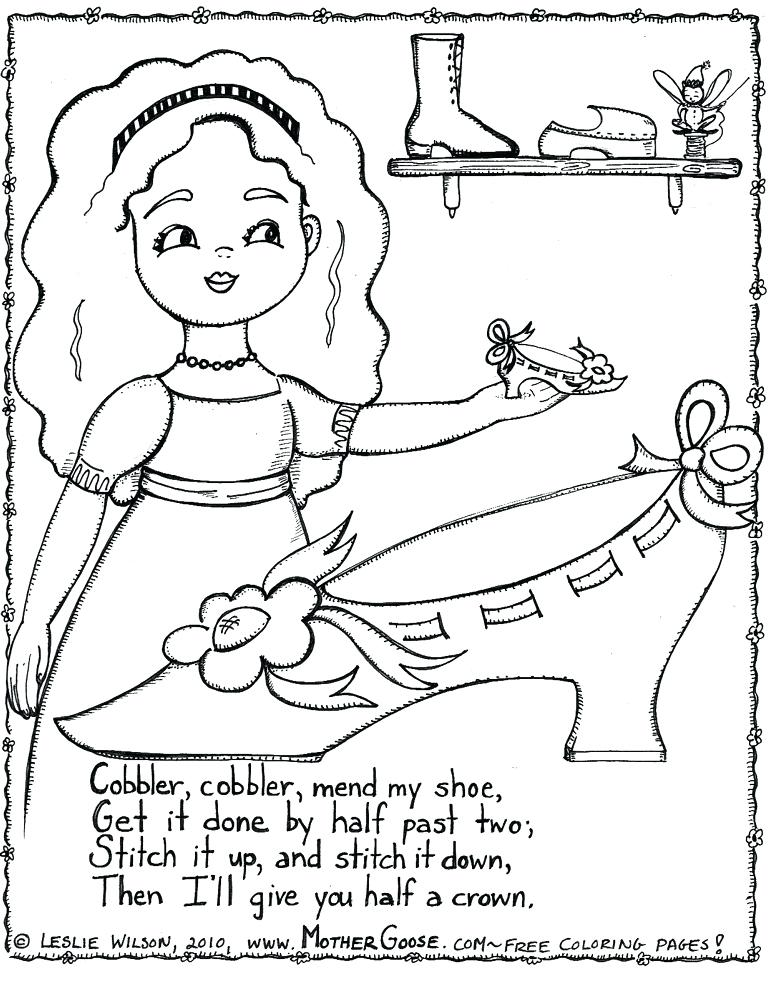768x983 Mother Goose Coloring Pages Hey Diddle Diddle Coloring Page