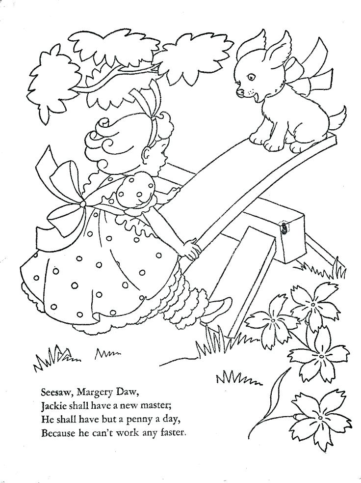 736x983 Nursery Rhymes Coloring Pages Nursery Rhyme Coloring Pages Mother