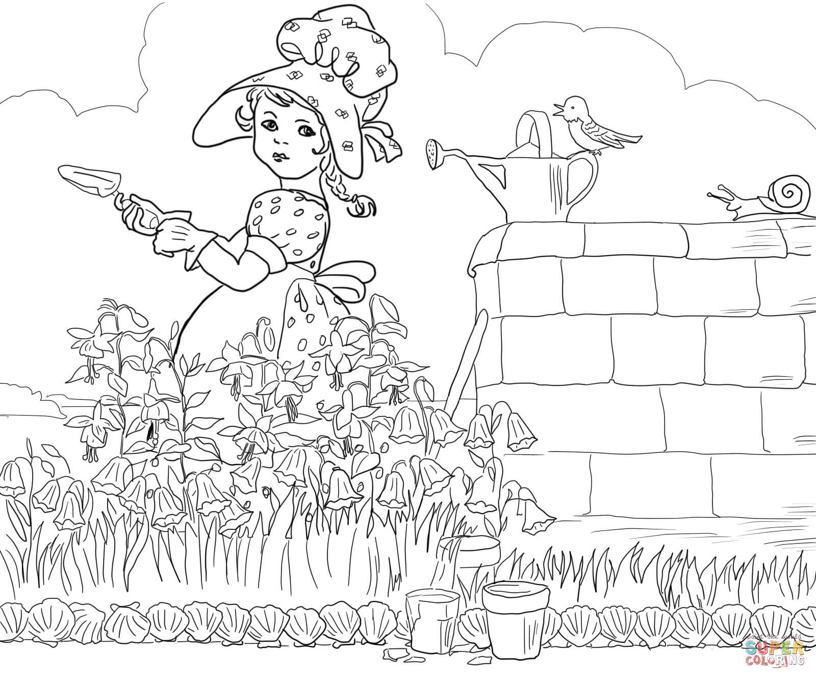 1600x1330 Quick Free Printable Nursery Rhyme Coloring Pages Mother Goose