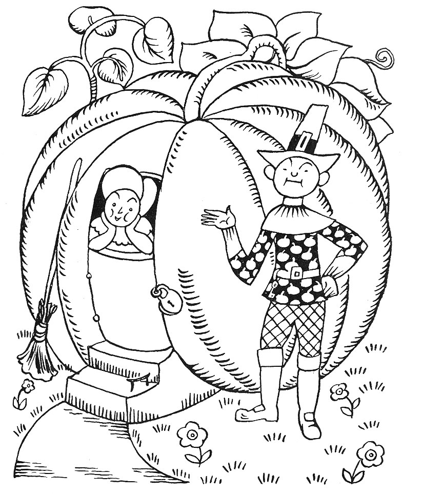 825x963 Unusual Peter Pumpkin Eater Coloring Page More