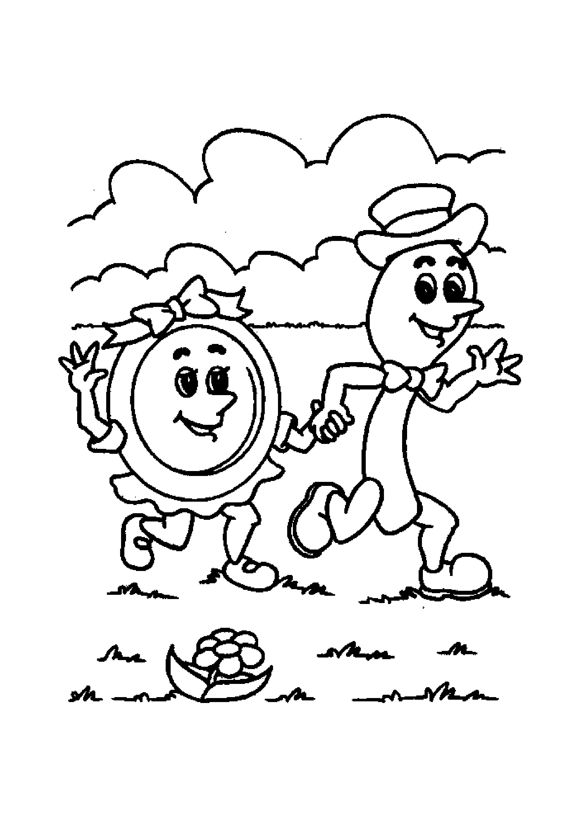 2479x3508 Willpower Little Miss Muffet Coloring Page Mother Goose Club