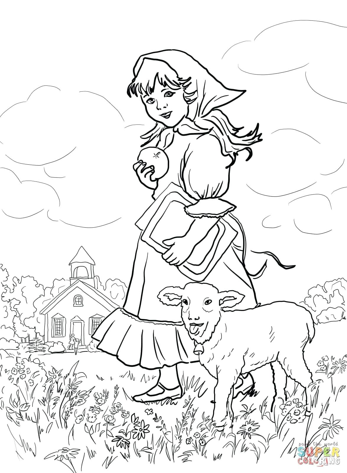 Mother Goose Nursery Rhymes Coloring Pages At Getdrawings Com Free