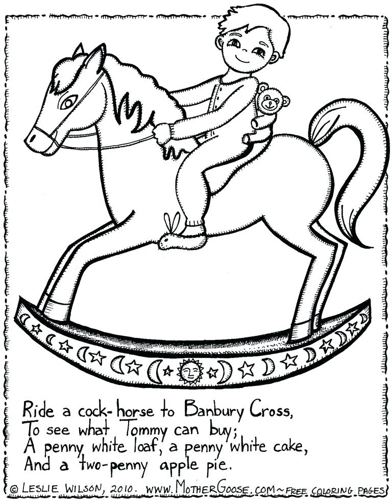 768x984 Coloring Pages Mother Goose Nursery Rhymes
