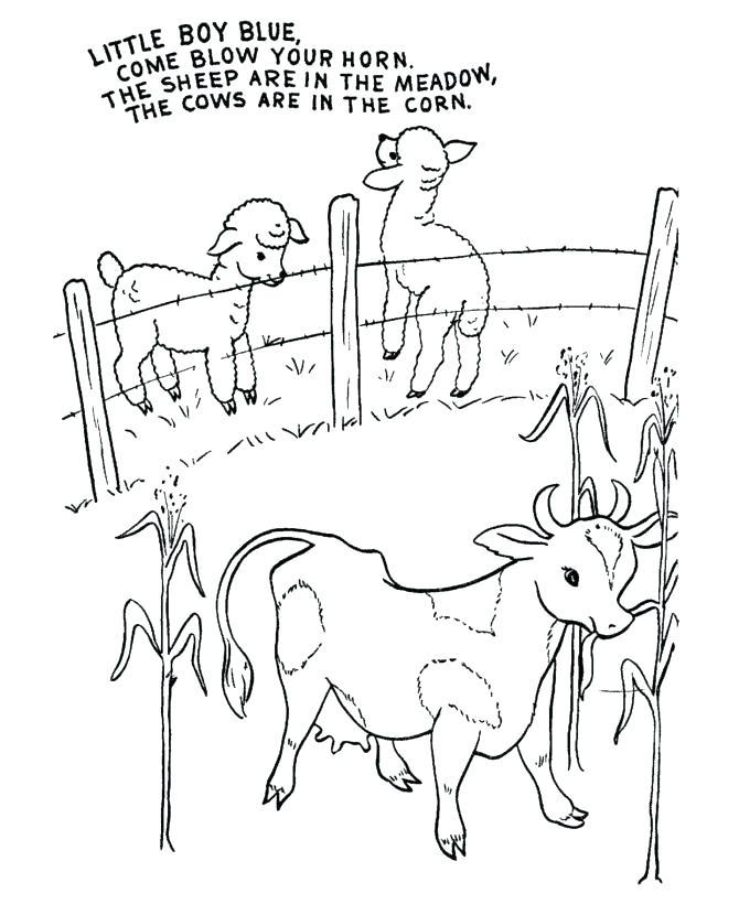 670x820 Nursery Rhymes Coloring Pages