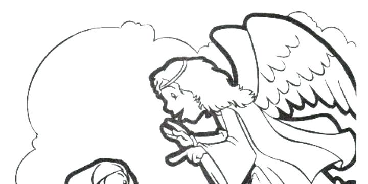 Collection An Angel Visits Mary Coloring Page Pictures ...