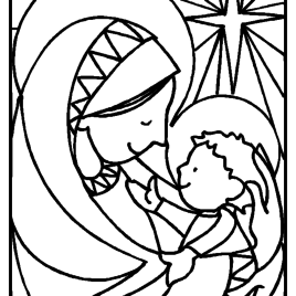 268x268 Mother Mary Coloring Pages Az Coloring Pages Coloring Page Mary