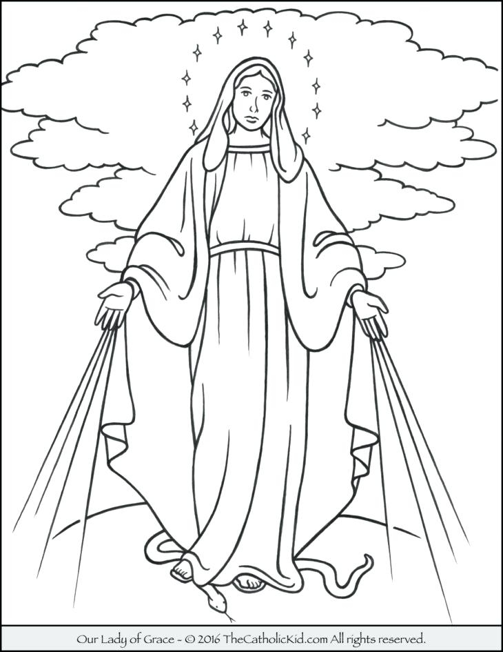 730x945 Saint Mary Coloring Pages Coloring Pages Blessed Mother Mary