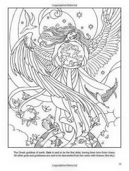 Mother Nature Coloring Pages