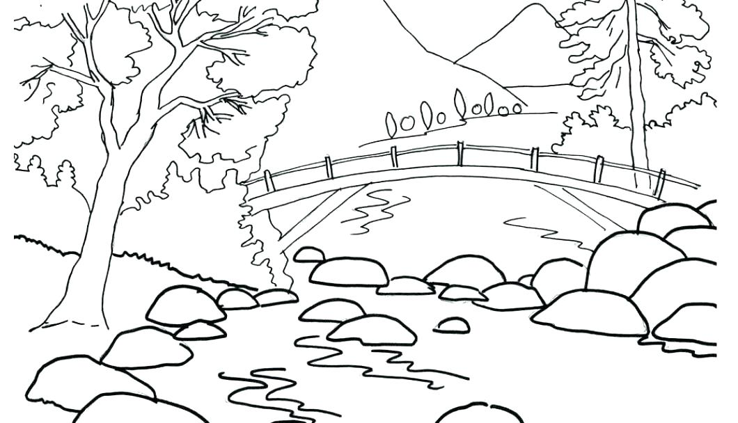 1060x608 Free Printable Nature Coloring Pages Simple Nature Coloring Pages