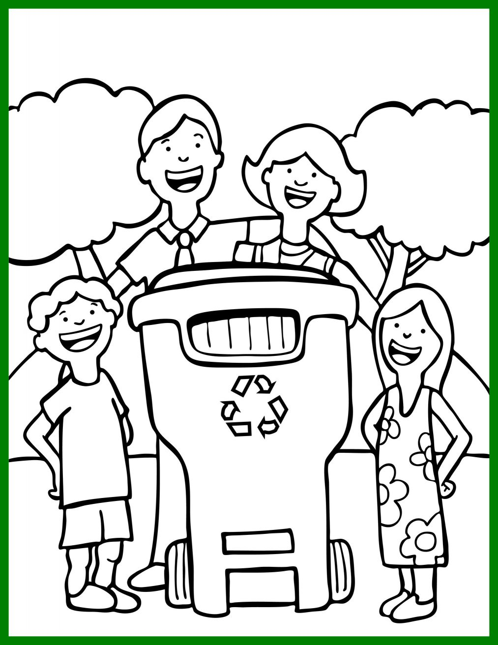 1013x1312 Marvelous Earth Day Coloring Page For Children Let U Recycle