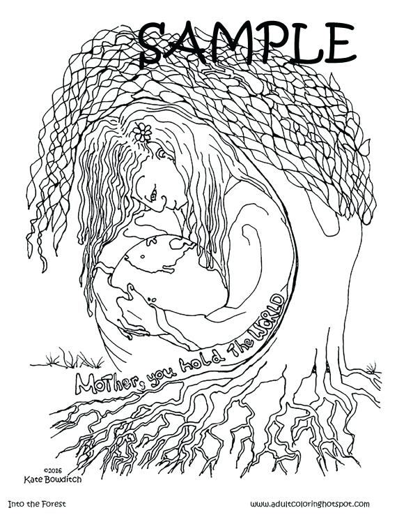 570x738 Mother Earth Coloring Pages Mother Nature Coloring Pages Nature