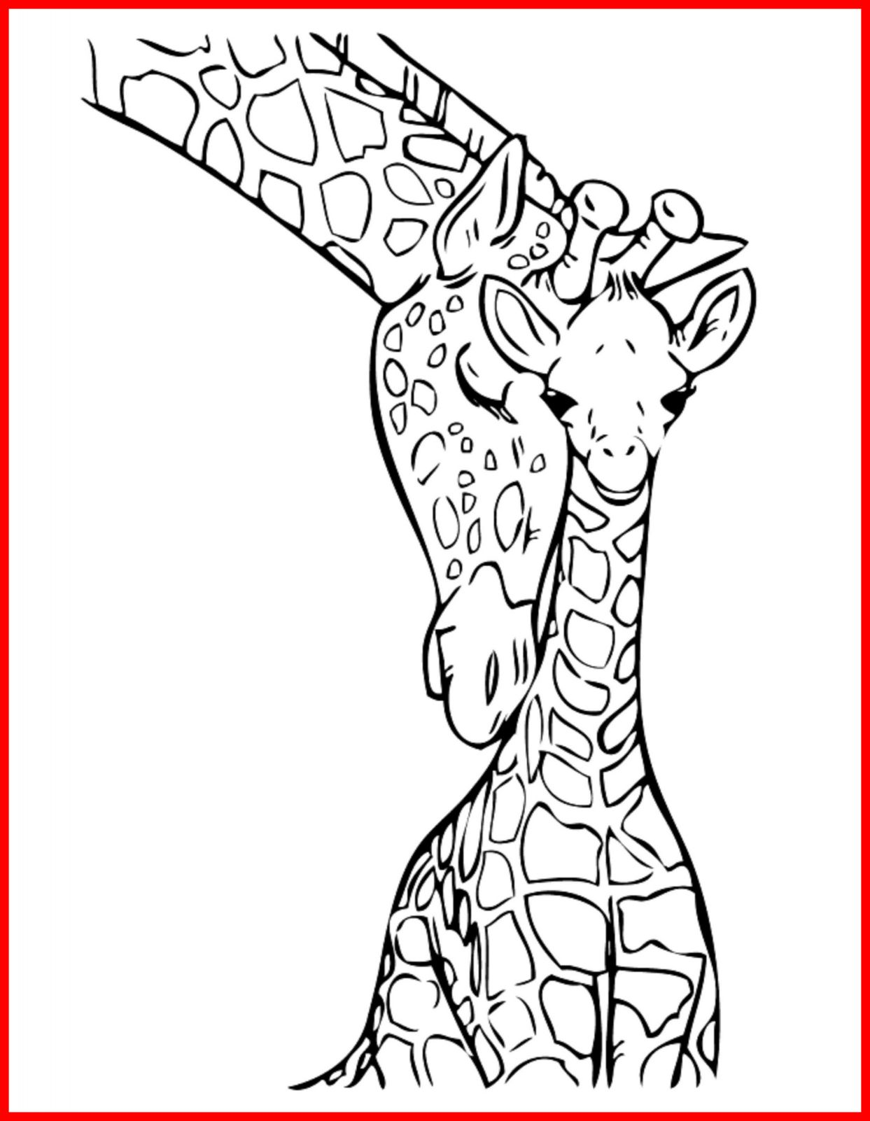 1243x1602 Amazing Giraffe Coloring Pages Printable Picture Of Mother Nature