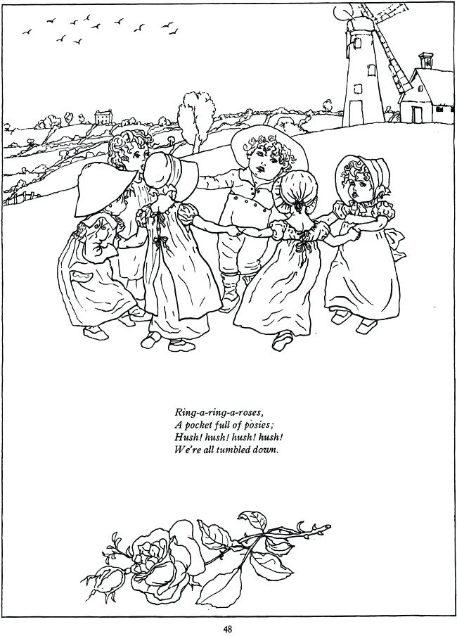 650x904 Mother Nature Coloring Pages Ring A Ring O Roses Coloring Page