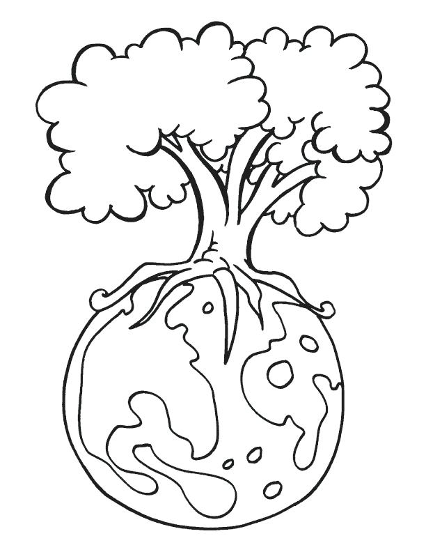 612x792 Mother Nature Coloring Pages Tree Earth Day Coloring Pages