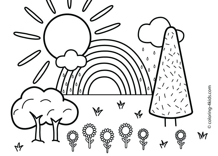 736x525 Nature Coloring Sheets Nature Coloring Sheets Printable Nature