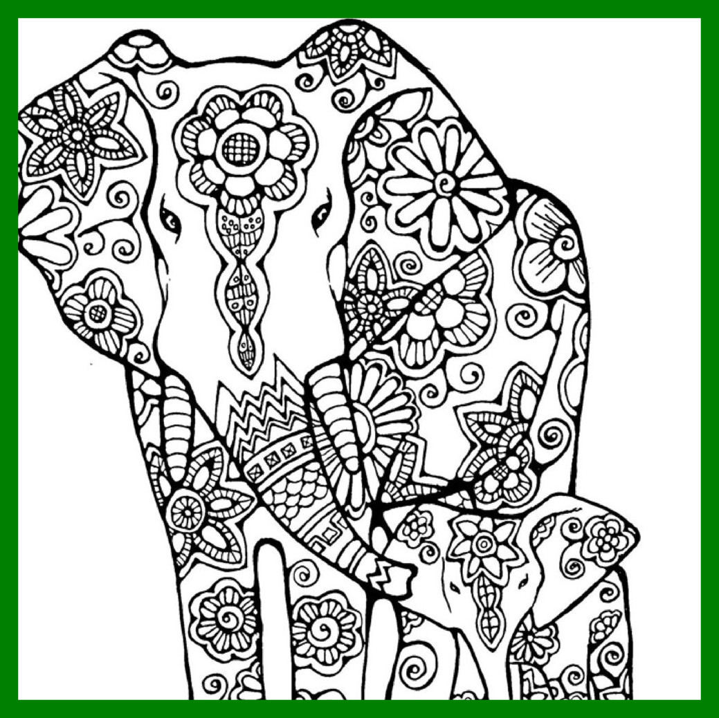 1039x1038 Appealing Mandala Elephant Drawing At Getdrawings For Personal Use