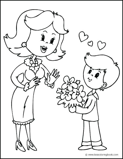 495x640 Mother Coloring Pages Mother Coloring Mother And Son Coloring Page