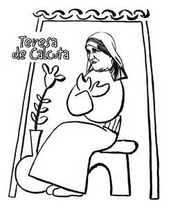 247x300 Blessed Mother Teresa Coloring Pages Sketch Template Dessin
