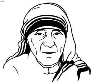 300x266 Mother Teresa Coloring Page Sketch Template Interest