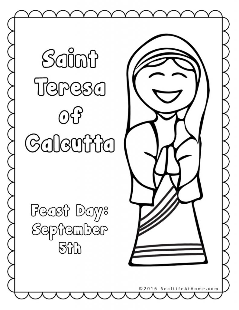 791x1024 Mother Teresa Coloring Pages Free Coloring For Kids