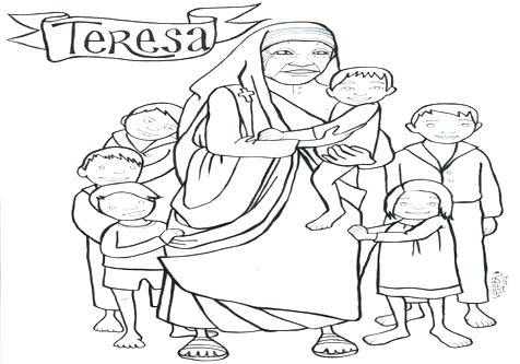 476x333 Mother Teresa Coloring Pages Mother Coloring Page Coloring Trend