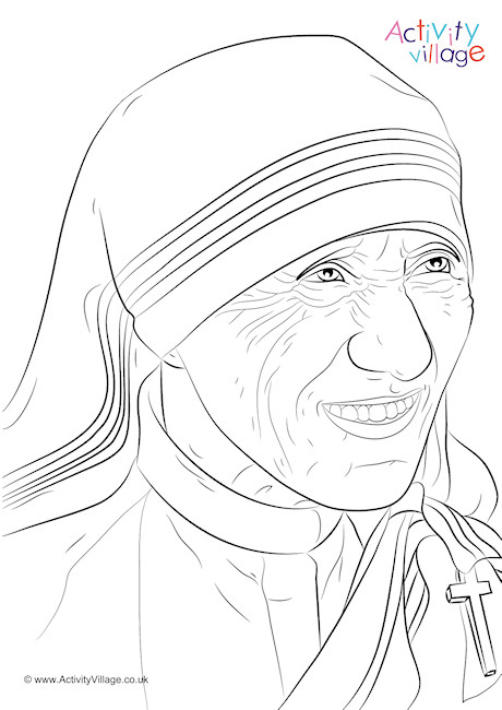 460x650 Mother Teresa Colouring Page