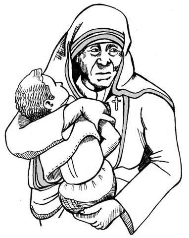 382x480 Mother Teresa Drawing Sketch Template Dessin Mother Teresa