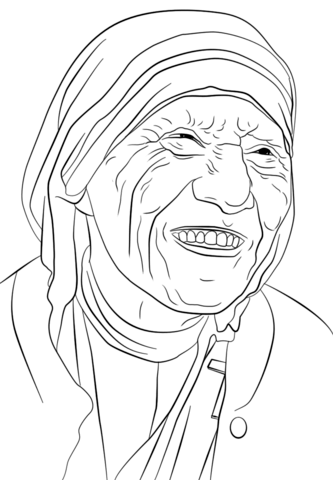 333x480 Mother Teresa Coloring Page From Famous People Category Mystery