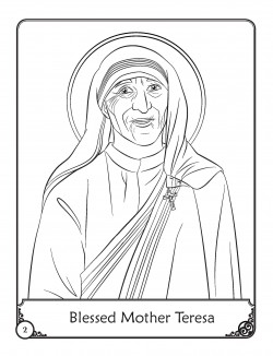250x326 Free Blessed Mother Teresa Coloring Pages Catholic Kids Saints