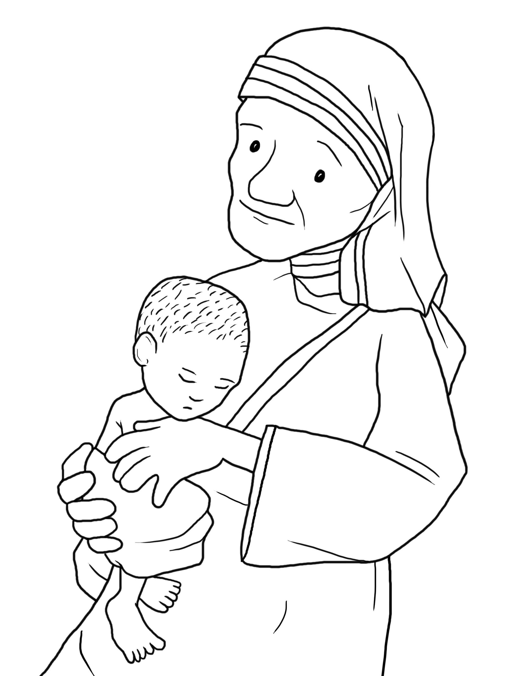 2125x2750 Innovative Blessed Mother Coloring Page Teresa