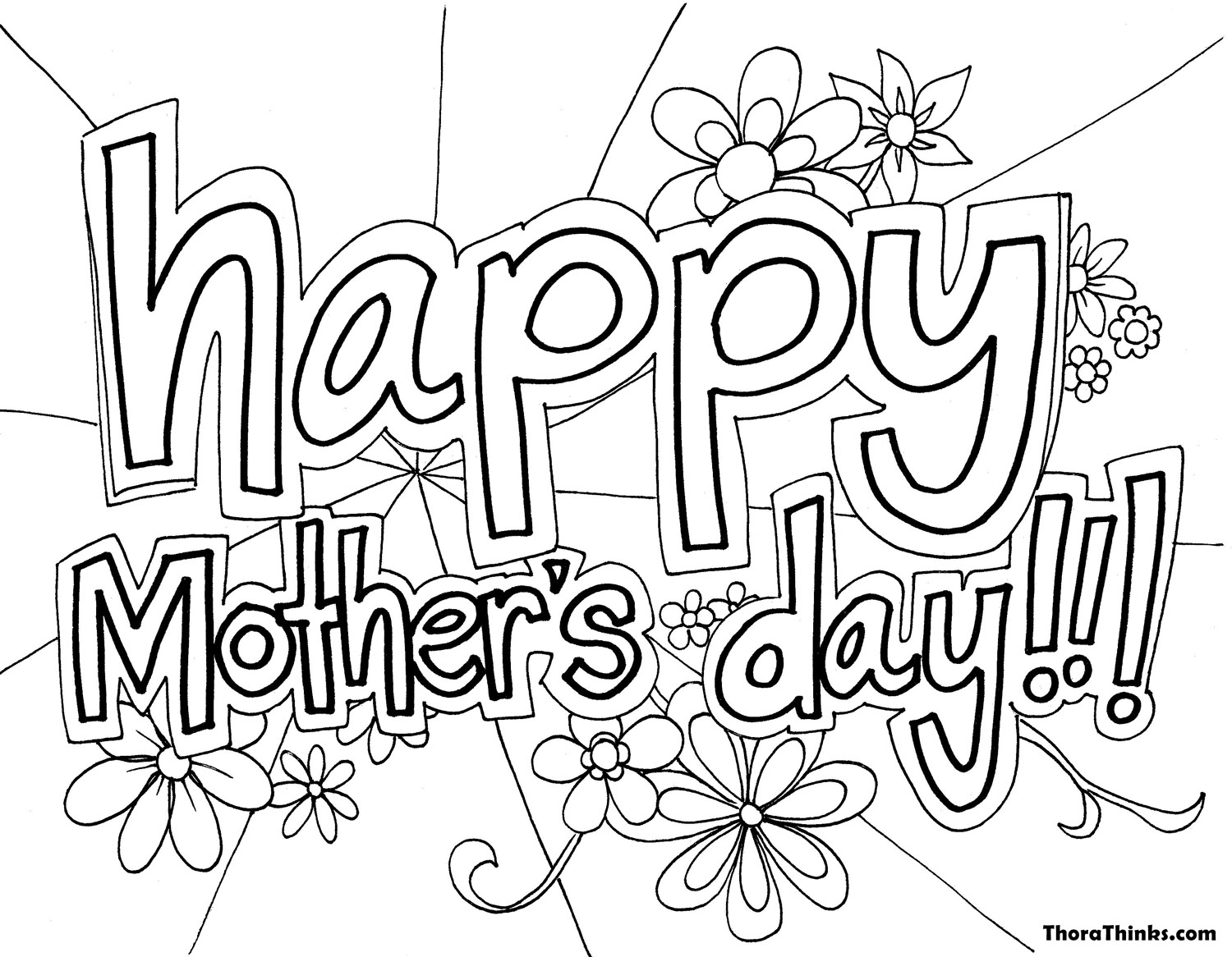 1500x1166 Free Mother's Day Coloring Pages