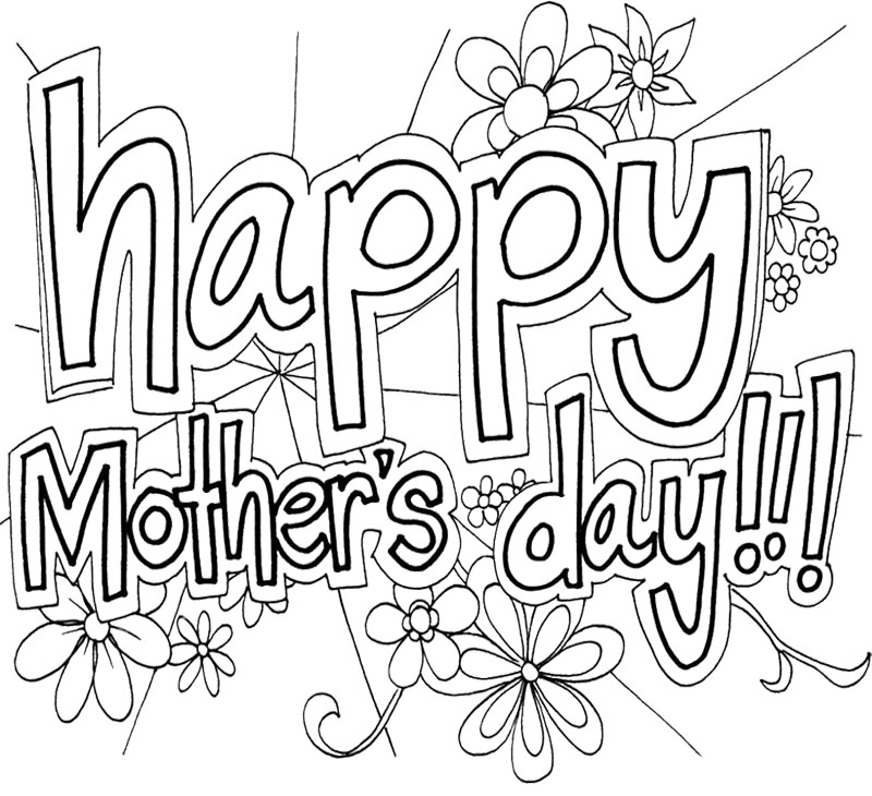 800x730 Free Printable Mothers Day Coloring Pages