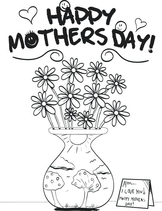 540x700 May Coloring Pages Printable Coloring Page For Mothers Day