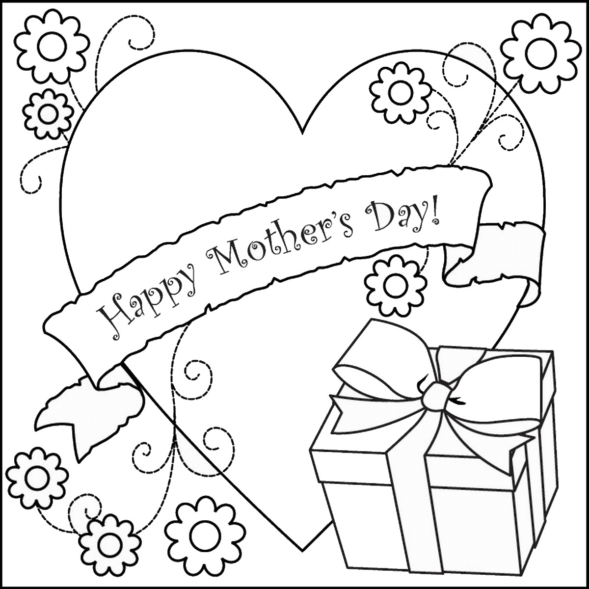 1200x1200 Mother's Day Coloring Pages