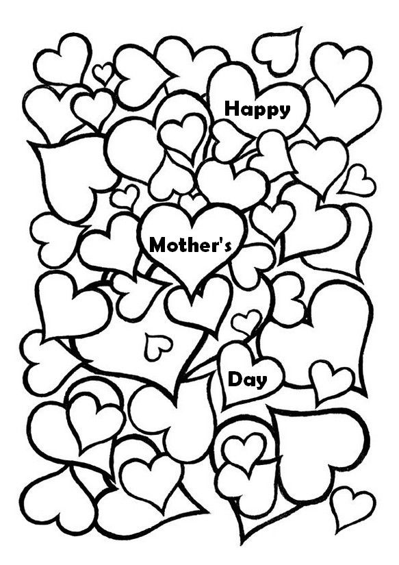 583x825 Mother's Day Hearts Color Me Happy! Adult