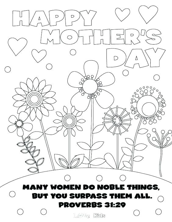 564x729 Mothers Day Clip Art Coloring Pages School Mothers Day Coloring