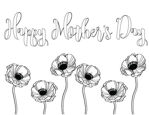 600x464 Mother's Day Coloring Pages Handmade In The Heartland