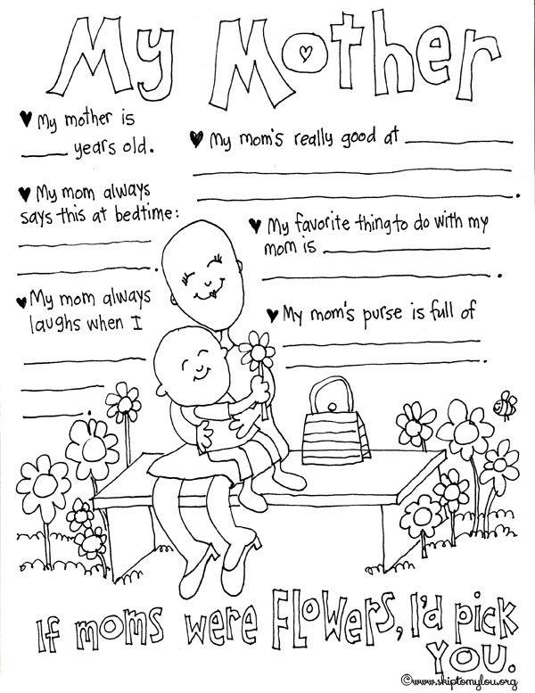 600x777 Mothers Day Coloring Pages To Celebrate The Best Mom Skip To My Lou