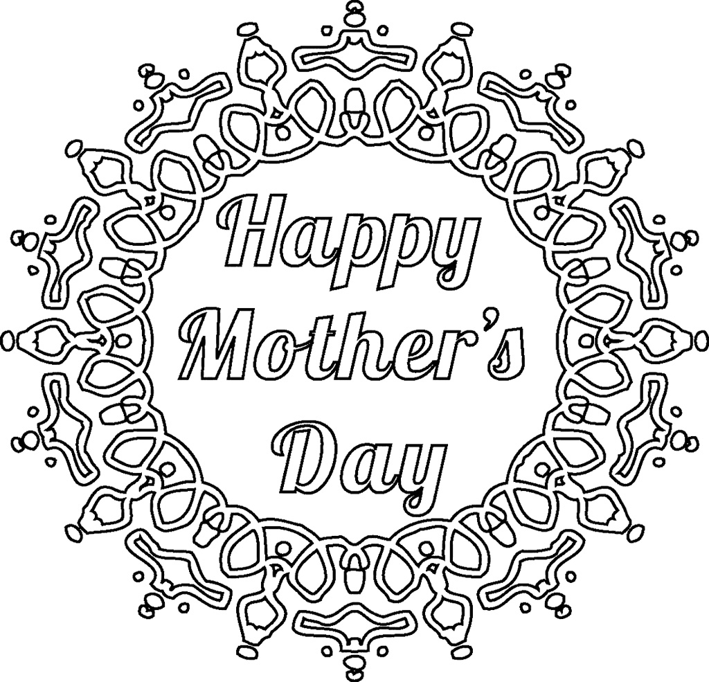 1024x985 Popular Mothers Day Pictures To Color Cool Ideas For You