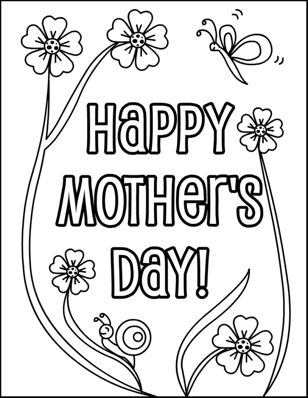 618x800 Best Happy Mothers Day Coloring Pages Sheets To Print Happy Free