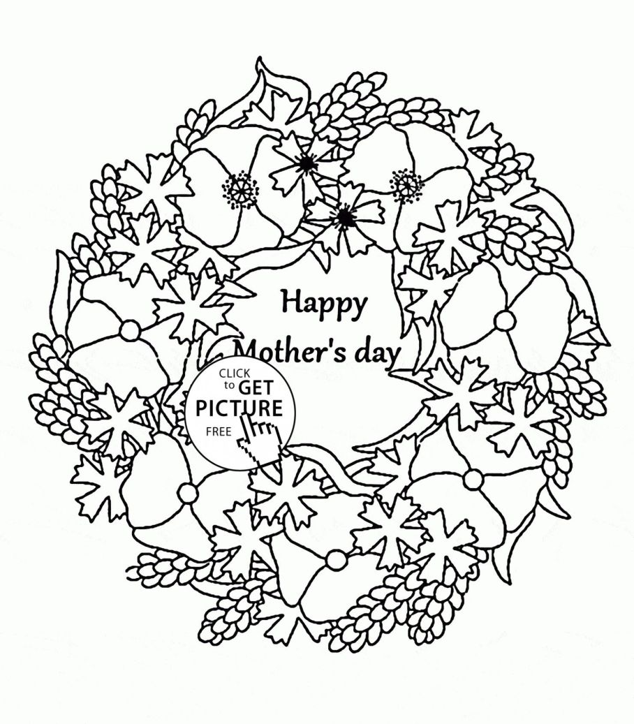 908x1037 Happy Mother Day Color Pages Printable S Coloring Page Free
