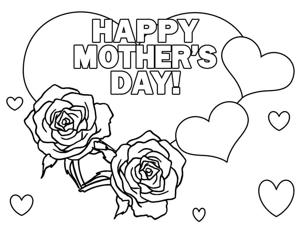 1067x800 Happy Mothers Day Coloring Pages Free Downlonad