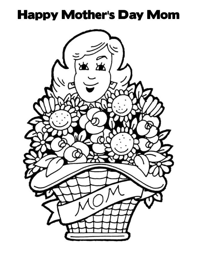 685x886 Mothers Day Coloring Pages